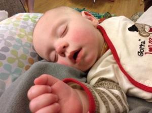asleep like an... angel...?